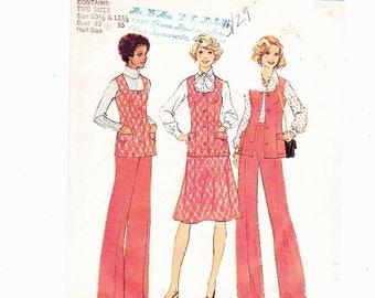 Simplicity 7305 Sz 10.5 & 12.5 Misses Pants, Skirt and Vest UNCUT