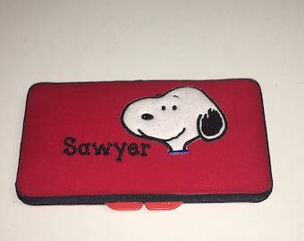 Personalized Baby Snoopy Wipe Case