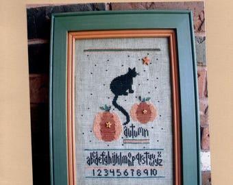 Angel Stitchin: Just Pumpkins - Cross Stitch Pattern with Embellishments