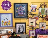 NEW! 2018 ISSuE - JuST CRoSS STiTCH 2017 2016 Halloween Collector's Edition cross stitch magazine Frosted Pumpkin Durene Jones