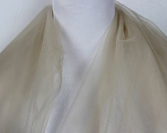 Champagne Net Soft Tulle. - Veils, bridal ware, fashion overlay,