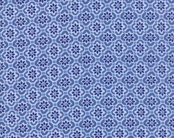 Kate Spain Voyage Fabric by the Yard, Porto in Delft Blue, Moda Fabrics, 27287-14