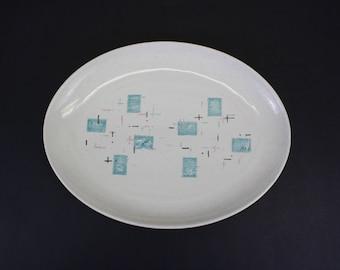 Vintage Vernonware 'Heavenly Days' Large Oval Platter (E8492)