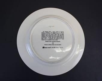 Vintage 1983 Stansbury Home Commemorative Plate (E8781)