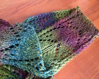 Arrowhead Lace Scarf ~ Hand Knitted Scarf