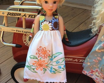 """Very shabby chic,   18"""" doll clothes, MSD, vintage pillowcase"""