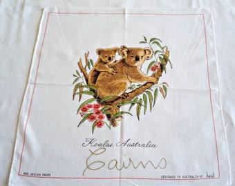 Handkerchief Hanky Hankie Vintage Hankys Hankies Antique Handkerchief Hankerchief Australia by Heil Koala Bear