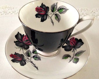 Royal Albert Tea Cup and Saucer Masquerade Teacup Rose