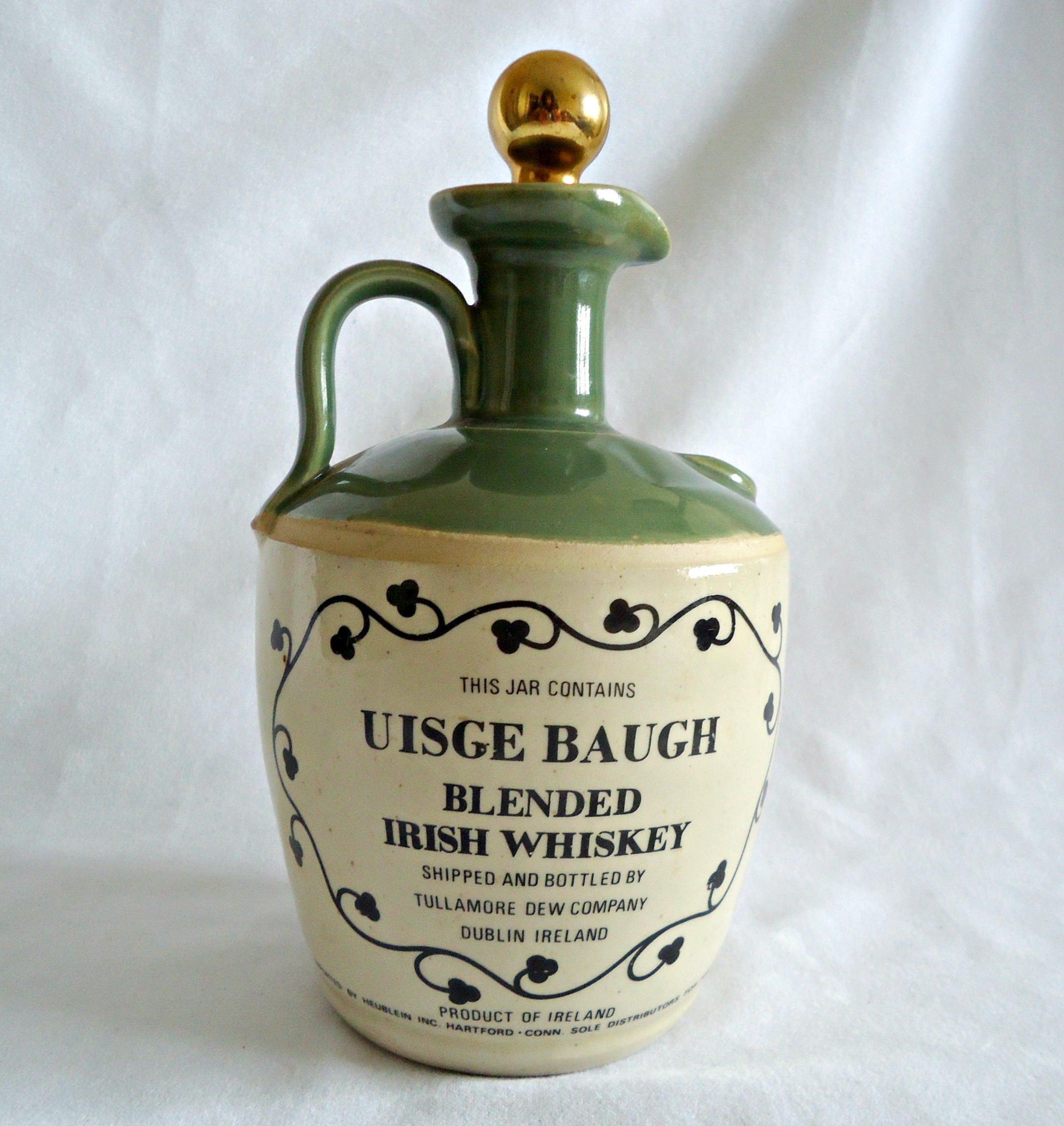 Vintage Whiskey Jug Tullamore Dew Uisge Baugh Irish Whiskey