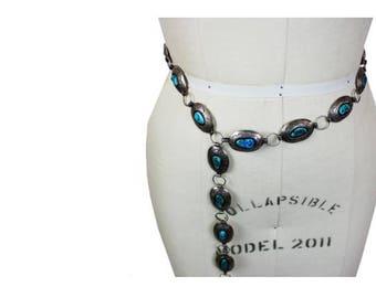 1950s Sterling Navajo Turquoise Belt
