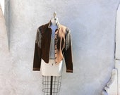RESERVED for Rhonda: ON SALE Women's Western Jacket, Vintage 80s Fringe Wool Coat Size Small, Double D Ranch Wear