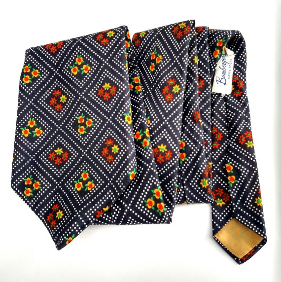 Vintage 1970's Del Soldato Silk Necktie from Bamberger's Department Store