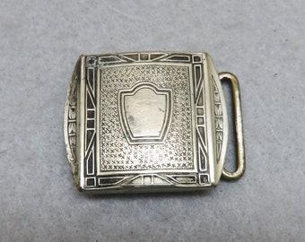 Vintage Silver Plated Art Deco Belt Buckle