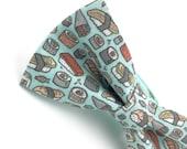 Adult Sushi Bowtie, Sushi Bow Tie in Mint, Aqua Bow Tie, Handmade Bow Tie, Novelty Bow Tie, Mens Bowties By AmandaJoHandmade on Etsy