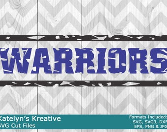 Warriors Distressed SVG Files