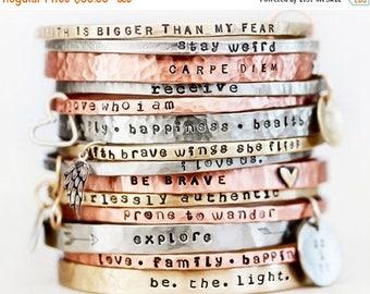 BACK 2 SCHOOL SALE Jewelry / Gift / Graduation Gift / Gift for Her / Inspirational Bracelet / Mantra / Power Phrase Bracelet / Her Birthday