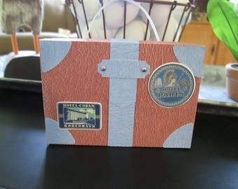 Leather Look Suitcase Favor Boxes set of 10