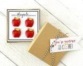 Concrete Apple Magnets
