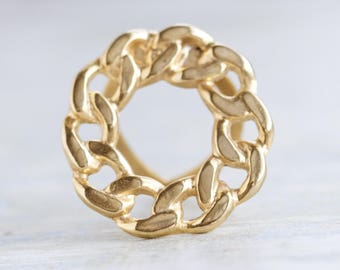 Golden Chain Scarf Clip - Vintage Collar Clip
