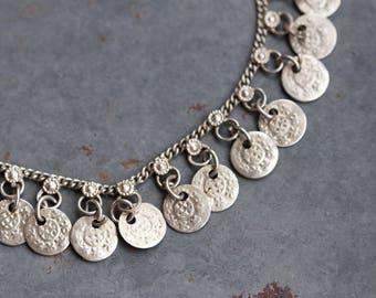 Ankle Bracelet - Silver Toned Boho Anklet - Urban Gypsy Fashion