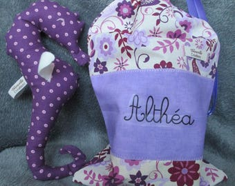 blanket and matching seahorse for Althea bag!