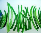 Reserve for ozana01 Kiln Formed Green Glass Mix 24 pieces (R101)