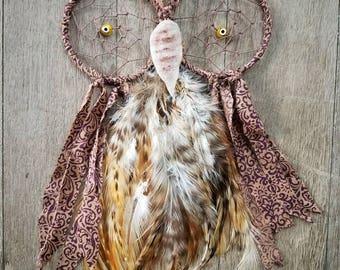 SALE - Brown Owl dreamcatcher