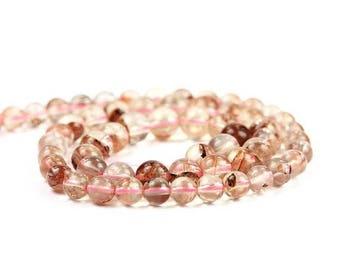 SUMMER SALE Oregon Sunstone Smooth Round Beads Full Strand Ponderosa Champagne Light Schiller Semi Precious Gemstone