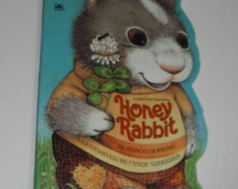 Honey Rabbit by Margo Hopkins Ilustrated by Cyndy Szekeres Vintage Board Book