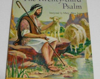 The Twenty third Psalm Interpreted by Mary Alice Jones illustrated by Manning de V. Lee Vintage Hardcover A Rand McNally Giant Book