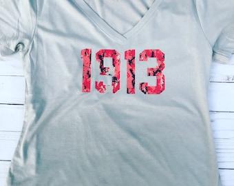 Gray Shirt in Red Camo 1913 T-shirt