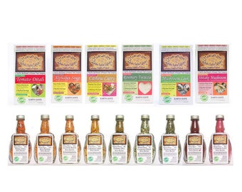 Made with Love - Top 15 Best Sellers Pack - 6 Gourmet Magic Meals + 9 Spice Blends - Easy Real Whole Food Fast! Artisan Pasta Sauce Dip Mix