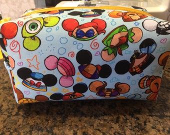 Disney Chaaracter Ear Hats Boxy/Zippered Pouch