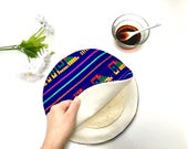 Purple Tortilla Warmer - Tortillero - Tortilla Keeper -  Bread Keeper - Mexican Fabric - Ethnic Housewares -Kitchen