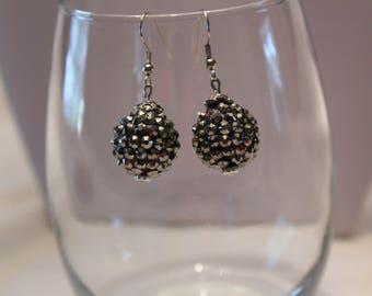 Earrings, Blackened Silver Textured Medium Dangke Earrings, Unique Earrings, Silvet Earrings