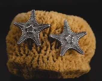 Sterling Silver Starfish Earrings-Starfish Stud Earrings-Chic Summer Earrings-Ocean Jewellery-Unique Nautical Earrings