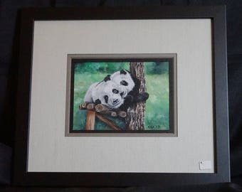 Original Pandas Watercolor Painting