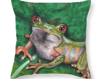 Tree Frog Pillow