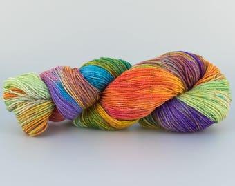 Laine tricotcolor teinture lurex argent fourniture créative laine crochet tricot wool mercerie marron multicolore knit accessories fil wool