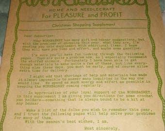 Workbasket Aunt Ellen's Chistmas Shopping Supplement 1930's