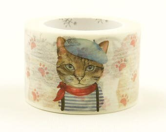 Love Cat 03 - Japanese Washi Masking Tape - 25mm Wide - 7.6 Yard
