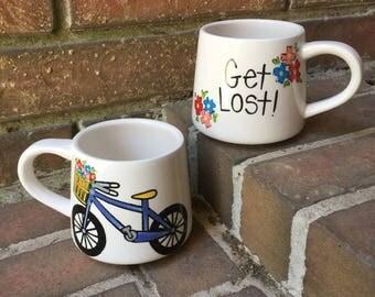 Get Lost Bicycle Mug