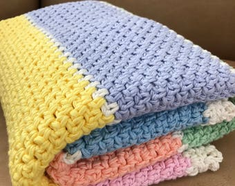 Crochet Baby Blanket Pattern - Chunky Crochet Baby Blanket - Easy Pattern - Chunky Throw, Afghan Pattern by Deborah O'Leary Patterns