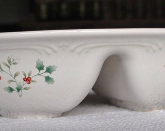 Pfaltzgraff Winterberry Divided Serving Dish