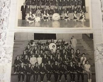School Band Photo Black and White Photo Indians Black and White Photo School Band Two Photos
