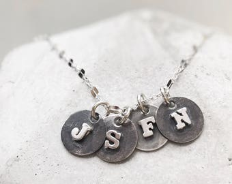 Letter Necklace Initial Jewelry Mom Mommy Mothers Gift For Her Morgers Day Rustic