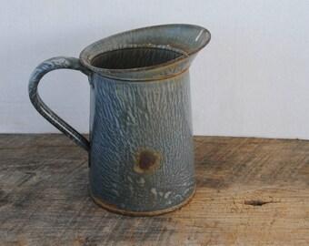 Vintage Graniteware Small Pitcher