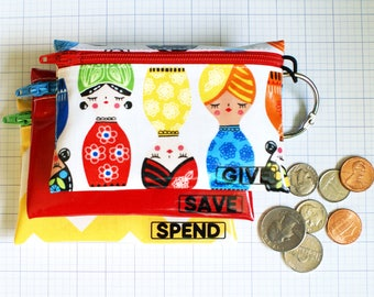 Senoritas Save Spend Give kids budget wallet set