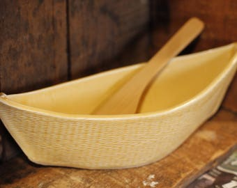 Dory Dip Boat in Sunny Yellow by Village Pottery PEI