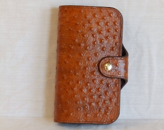 Handmade leather wallet / clutch purse
